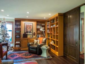 library-antique-walnut-door